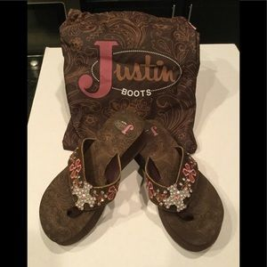 1a625ea47b745 Justin Boots Sandals for Women